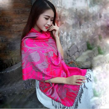 DCCKJG2 2016 new national style restoring ancient ways long animal elephants warm scarf female adornment photograph prevented  shawls