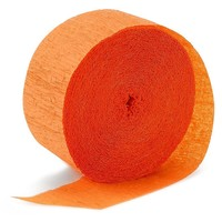 Halloween Bright Orange (Orange) Crepe Streamer ... : Target
