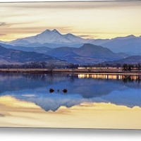 Colorado Twin Peaks Golden Reflections Metal Print
