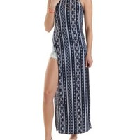 Printed Side Slit Maxi Tank Top by Charlotte Russe