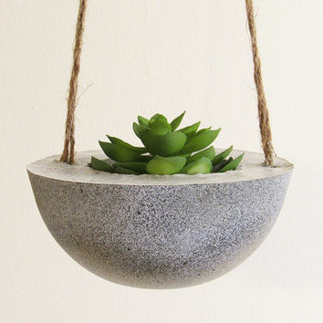 Succulent Planter, Hanging Planter, Concrete Planter, Modern Planter, White Planter, Cement Planter, Indoor Planter, Succulent Pot, Gold