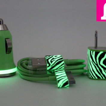 CUSTOM ORDER  Zebra Print Glow in the Dark by LunatixGraffiti
