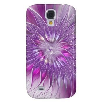 Pink Flower Passion Abstract Fractal Art Samsung Galaxy S4 Case