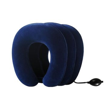 New U Shaped Neck Pillow Portable Inflatable Travel Pillow Outdoor Sleeping Neck Cushion Support Pillows For Neck Airplane Kids