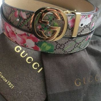 Gucci Floral Belt