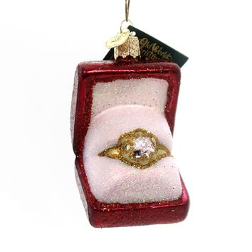 Old World Christmas Ring In Box Glass Ornament