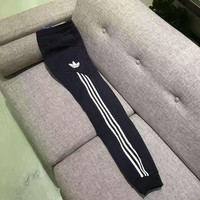 ADIDAS Thick leisure pants men's sport pants hight quality Black