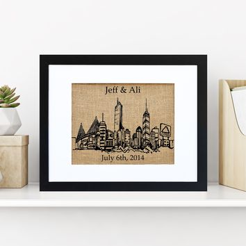 Boston Skyline Monogram