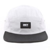 OBEY, Smith 5 Panel Hat - Silver/Black - OBEY - MOOSE Limited