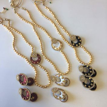Silk Thread Necklace Set