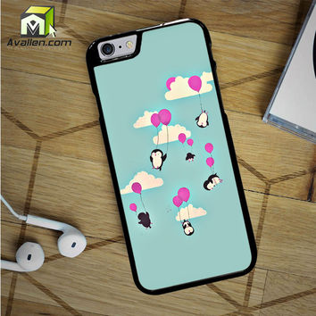 Cute Penguines And Baloons iPhone 6S Case by Avallen