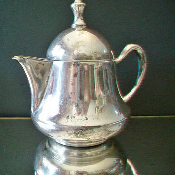 Vintage 924 Silver Teapot Coffee Pot Creamer Tea Party Kitchen Home Decor