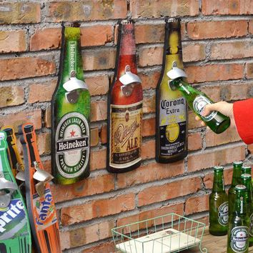 Bar Tool American Retro Beer Bottle Opener Creative Bar Restaurant Wall Hangings Crafts Barware 40cm