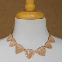 Triangle Necklace, Nude