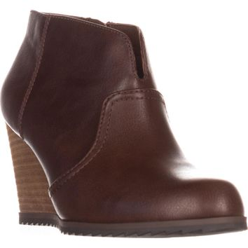 Dr. Sholl's Inform Wedge Ankle Boots, Copper Brown, 10 US / 40 EU