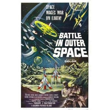 Battle In Outer Space Movie poster Metal Sign Wall Art 8in x 12in