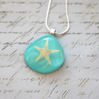 Real Starfish Necklace Nautical Resin by NaturalPrettyThings