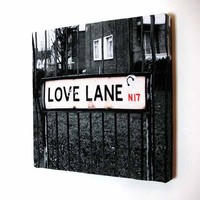Duffy London - Love Lane Sign Canvas Collection