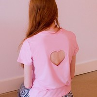 PRE-ORDER Back Cropped Heart Tee
