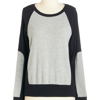 ModCloth Mid-length Long Sleeve Comfort Comes First Top