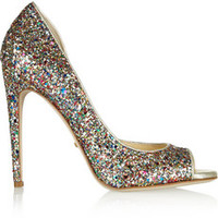 Jerome C. Rousseau Kafka glitter-finished leather pumps – 55% at THE OUTNET.COM