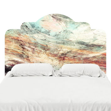 Painted Landscape Headboard Decal