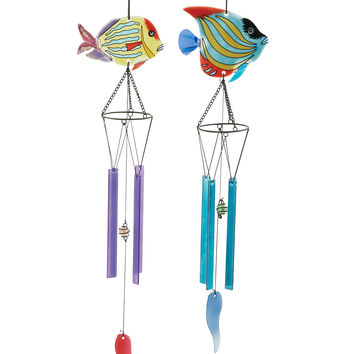 Lovely Glass Metal Wind Chime 2 Assorted