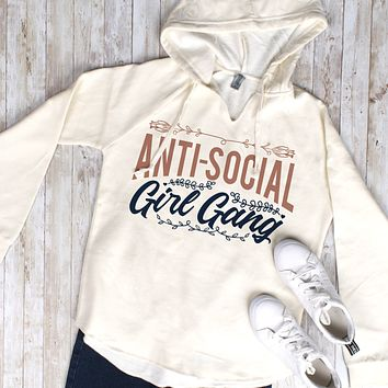 Anti-Social Girl Gang Wave Wash Hoodie