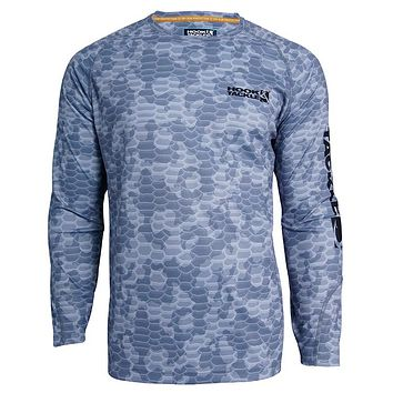 Men's Camo Scales L/S UV Fishing Shirt