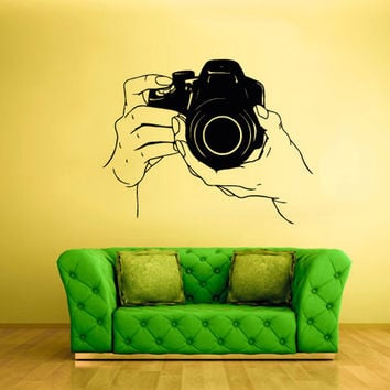rvz1645 Wall Decal Vinyl Sticker Decals Photo Camera Canon Nikon Hands