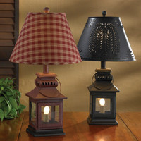 Rustic, Primitive Iron Lantern Lamp