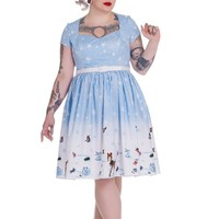 Hell Bunny Christmas Winter Wonderland and Animals Party Flair Dress