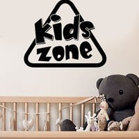 Vinyl Wall Decal Kids Zone Sign Children Playing Room Art Stickers Mural Unique Gift (ig5138)