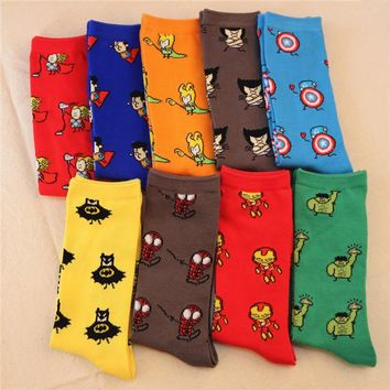 The marvel DC Avengers Captain America Superman Batman men and women socks stockings