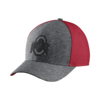 Nike College Jersey Color-Blocked Swoosh Flex (Ohio State) Fitted Hat Size FLX