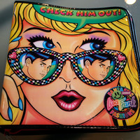 "Lisa Frank ""Check Him Out!"" Binder // vintage 90s zippered 3-ring binder"