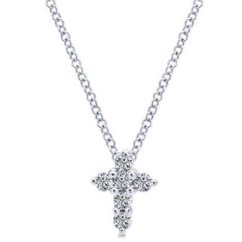 Gabriel Classic Mini Diamond Cross Pendant