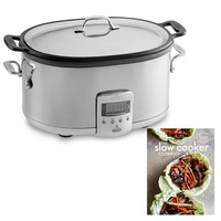 All Clad Deluxe 7-Qt. Slow Cooker with Williams Sonoma Test Kitchen Slow Cooker Cookbook