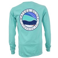 Bluff Horizon Long Sleeve Tee Shirt in Chalky Mint by Waters Bluff