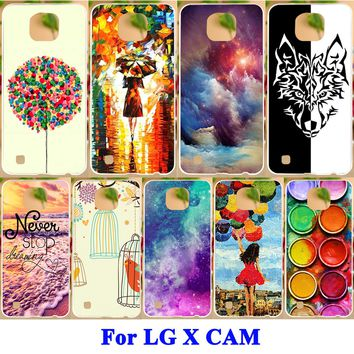 Cell Phone Cases For LG X Cam F690 K580 K580Y X-cam K580 K580DS Covers Painted H Series Pattern Hard Shell Soft TPU Back Covers