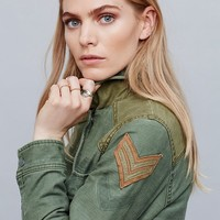 Free People Colorblock Military Parka