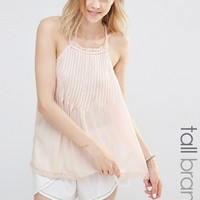New Look Tall Pintuck Plaited Strap Cami Top
