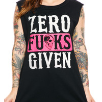 "Women's ""Absolute Zero"" Muscle Tank by Social Decay (Black)"