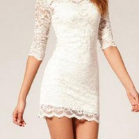 Sexy Dress with Lace Insert for Women
