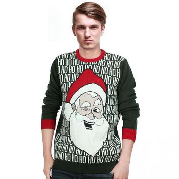 Men Christmas Sweater Male Ugly Christmas Sweaters 2017 Winter New Fashion O-Neck Pullovers