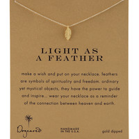 Light as a Feather Necklace - Dogeared - Gold