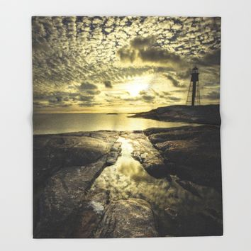 Good night sweet sun Throw Blanket by HappyMelvin