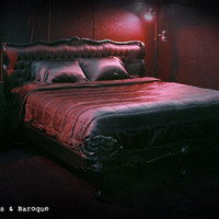 Fabulous and Baroque — Genevieve Bed - Black - Client Photo