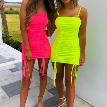The Perfect Fit Dress: Neon Pink
