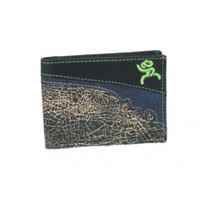 HOOey Wallets : HOOey Roughy Signature Black Crackle Front Pocket Bifold Wallet